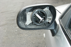 Replacement mirrors - Before